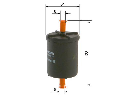 Filtro Inyeccion citroen fiat renault lancia  BOSCH-0450902151 - 9,86