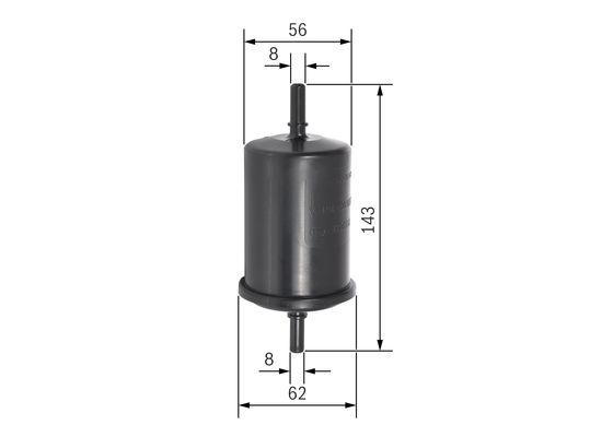 Filtro jinyeccion psa 1,1 1,4 1,6 1,8 gasolina  BOSCH-0450902161 - 8,14