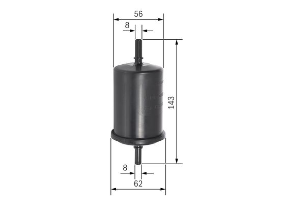 (F2161*) Filtro jinyeccion psa 1,1 1,4 1,6 1,8 gasolina  BOSCH-0450902161 - 9,44