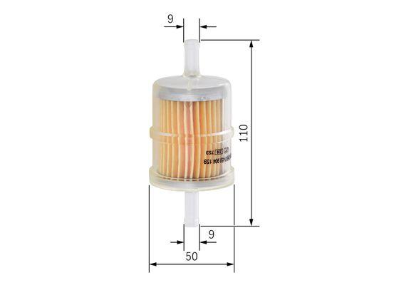 Filtro tuberia combustible universal  BOSCH-0450904159 - 5,6
