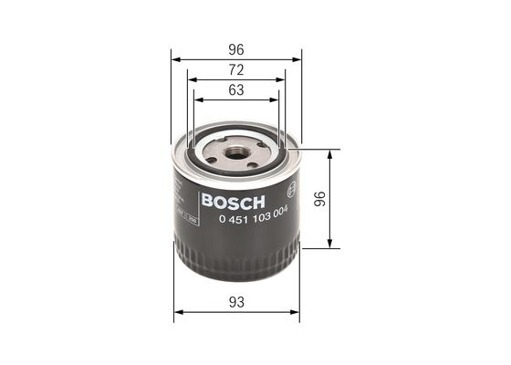 Filtro de Aceite INDUSTRIAL, same, scania etc  BOSCH-0451103004 - 6,1