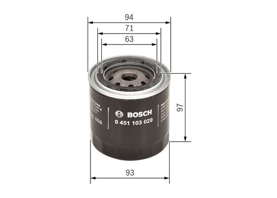 Filtro de Aceite  BOSCH-0451103029 - 6,37