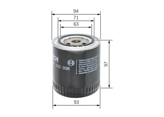 Filtro De Aceite BOSCH-0451103038 - 7,73