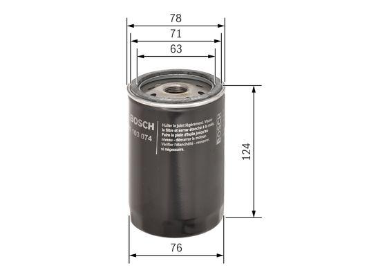 (P3074*) Filtro de aceite  BOSCH-0451103074 - 6,81