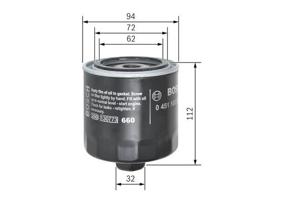 Filtro de Aceite  BOSCH-0451103084 - 8