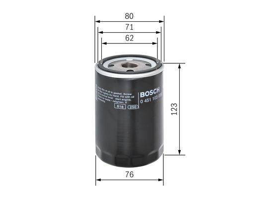 (P3086*) Filtro de Aceite BMW 320.I  BOSCH-0451103086 - 7,24