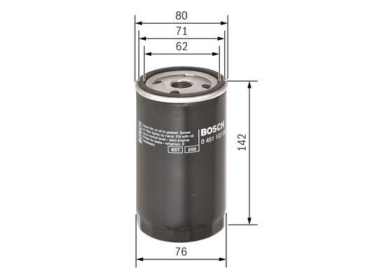 Filtro de Aceite  BOSCH-0451103092 - 8,33