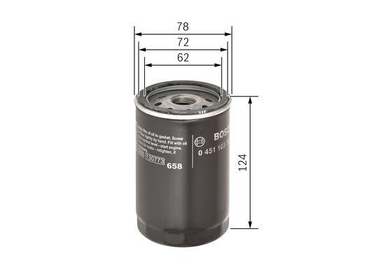 Filtro de Aceite  BOSCH-0451103101 - 6,92