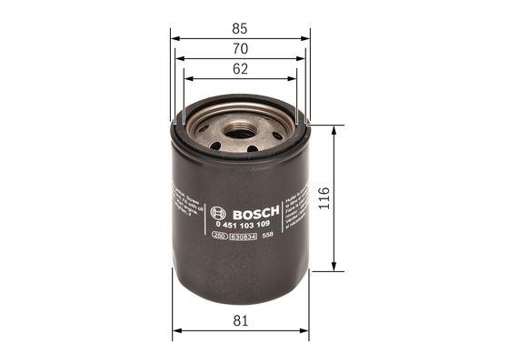 Filtro de Aceite CITROEN  BOSCH-0451103109 - 6,86