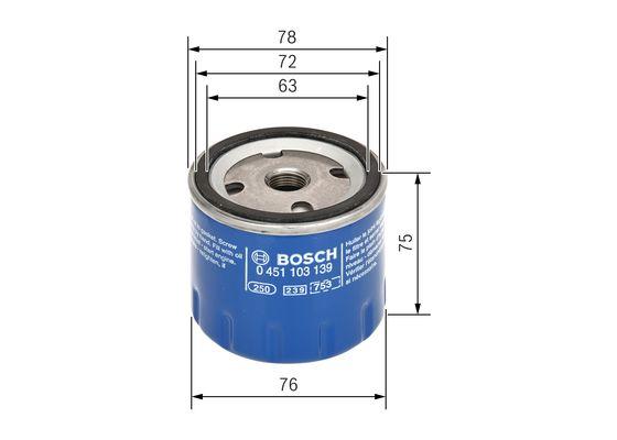 (P3139*) Filtro de Aceite  BOSCH-0451103139 - 7,57