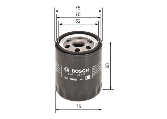Filtro de Aceite tipo 1.9d  BOSCH-0451103170 - 9,75