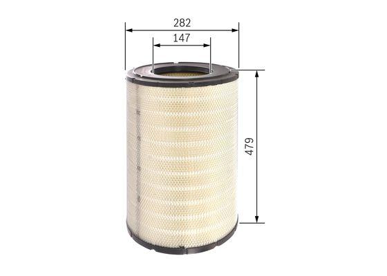 Cartucho Filtrante Aire BOSCH-0986626756 - 83,79