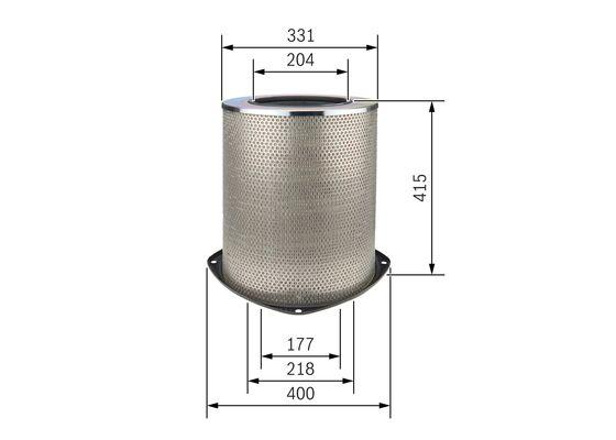 Cartucho Filtrante Aire BOSCH-0986626786 - 65,34