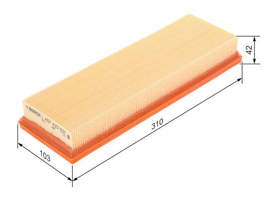 (S3531*) filtro aire movano,megane ,traficc,vivaro, 1.9dci  BOSCH-1457433531 - 7,32