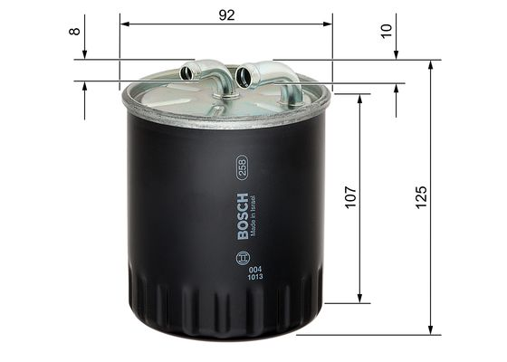 (N4437*) Filtro diesel  mercedes  BOSCH-1457434437 - 16,64