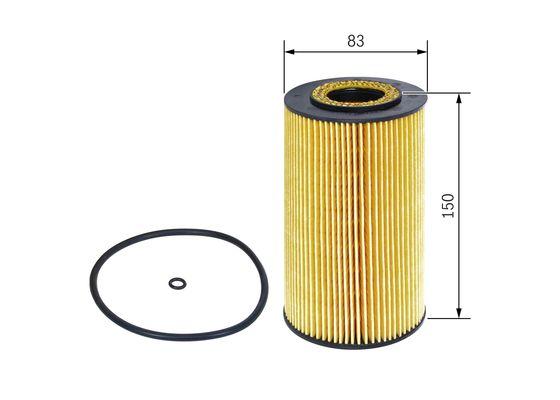 (P7003/1*) FILTRO ACEITE MERCEDES E400 S400 CDI  BOSCH-F026407003 - 9,69