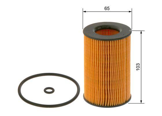 (P7157*) Filtro De Aceite golf  VII/leon III /a5 1.6tdi -12  BOSCH-F026407157 - 7,7