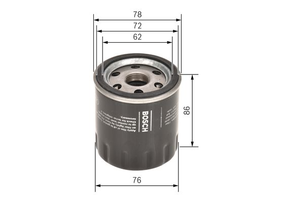 (P7188*) Filtro De Aceite transit 2.2d  -12  BOSCH-F026407188 - 6,75