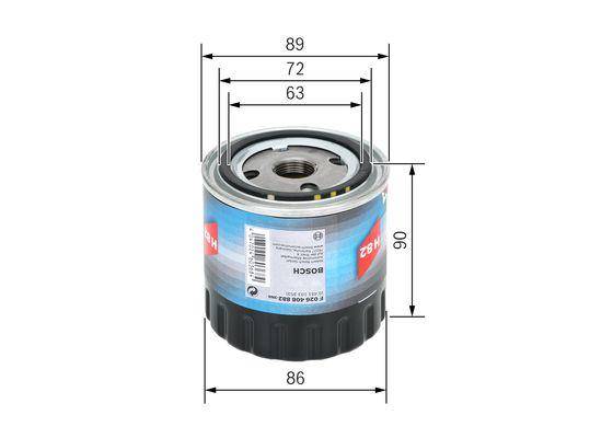 Filtro De Aceite BOSCH-F026408882 - 9,69