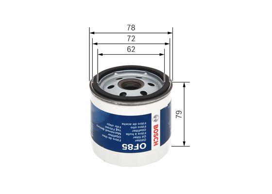 Filtro De Aceite BOSCH-F026408885 - 7,62